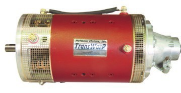 TransWarP 9 EV DC Motor <br> 72-156V, 334.5A <br> Double ended shaft - advanced timing, 1.125